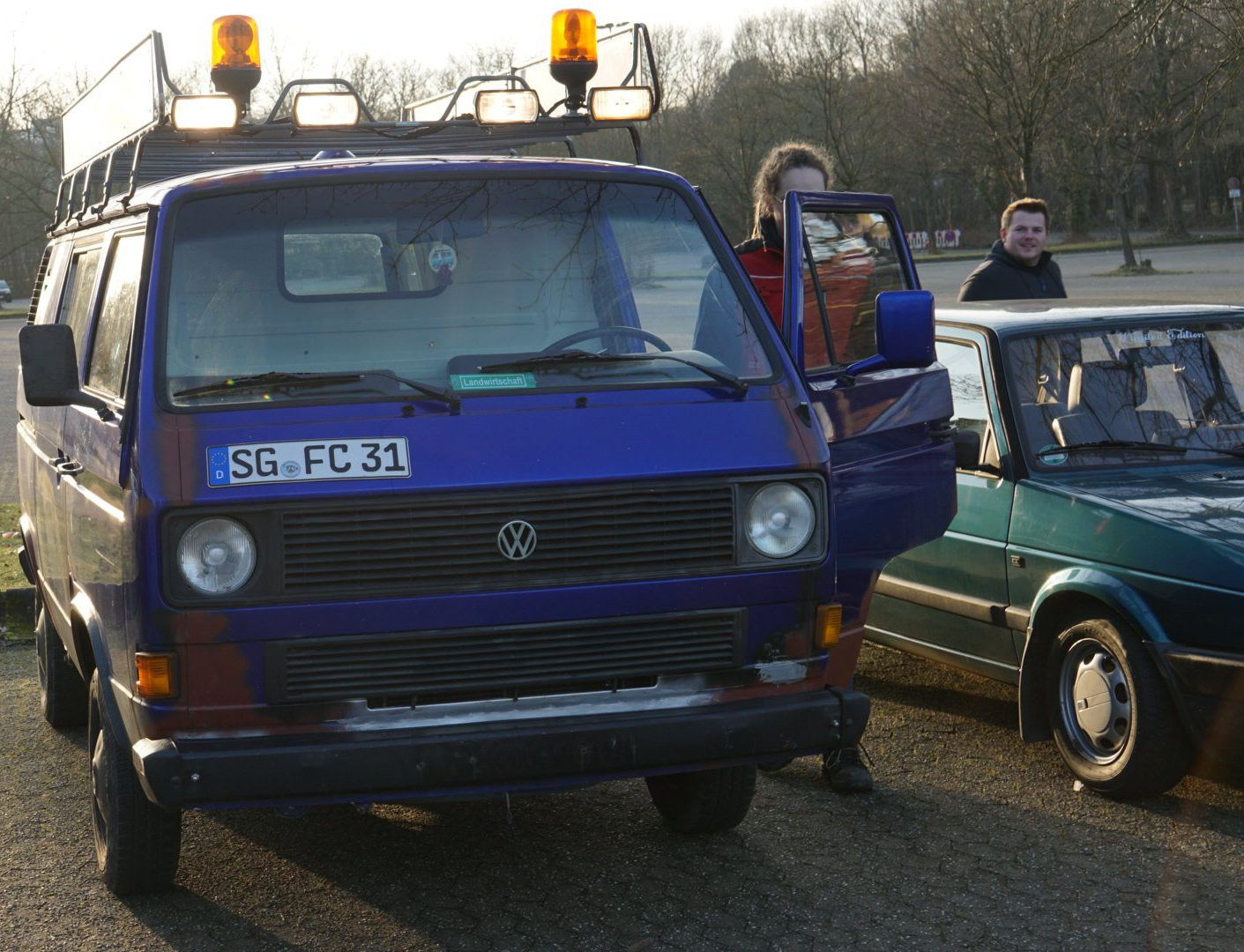 VW Bulli Parkplatz-Treffen